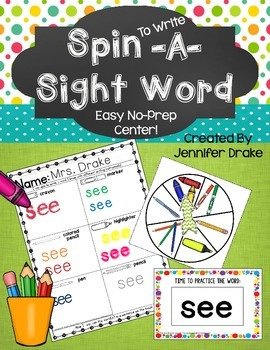Spin To Write A Sight Word