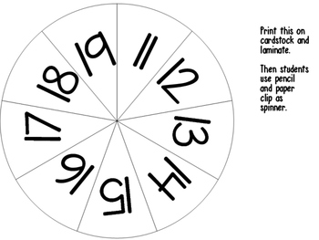 Spin, Trace, and Color Teen Numbers