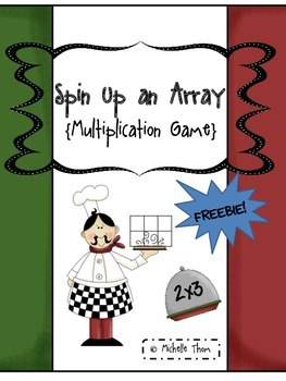 Spin Up an Array {Freebie Multiplication Game}