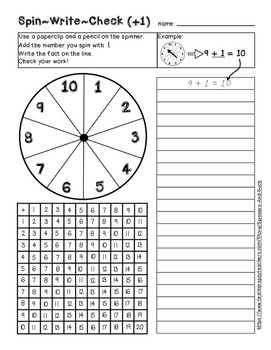 Spin~Write~Check - Addition Facts Practice