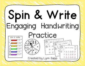 Spin & Write:  Engaging Handwriting Practice