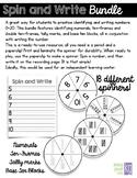 Spin & Write Number Writing Bundle (0-20 ten-frames, tally marks, base ten)