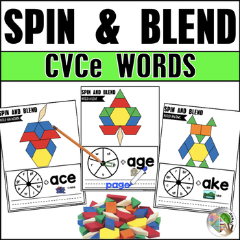 Spin, Write, and Blend CVCe Words Fall Theme Pattern Blocks