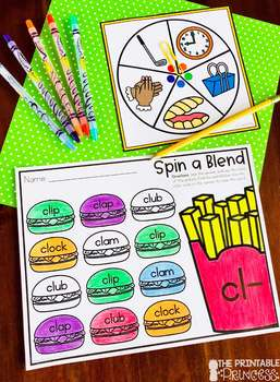 Spin a Blend and Digraph {Word Work Activities}