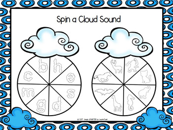 Spin a Cloud Sound:  NO PREP Beginning Sounds Spin Game