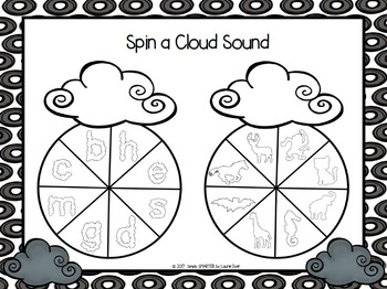 NO PREP Weather Themed Beginning Sounds Spin Game
