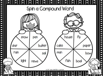 Spin a Compound Word:  NO PREP Spin Game