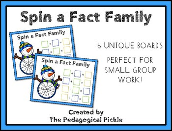 Spin a Fact Family