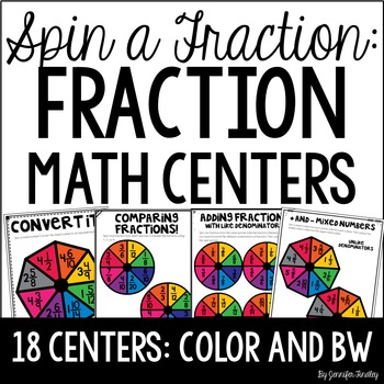 Fraction Math Centers {Spin a Fraction}