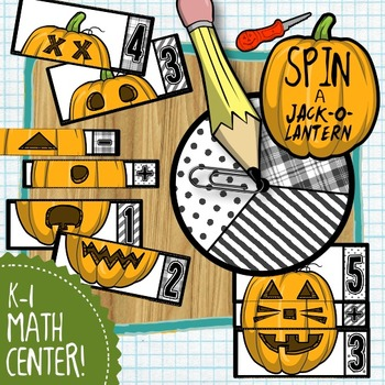 Spin a Jack-O-Lantern: Adding and Subtracting