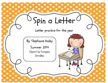 Spin a Letter - Letter practice for the Year