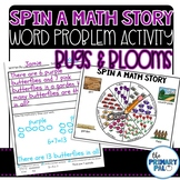 Story Problem Activity: Bugs & Blooms Word Problems