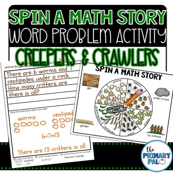 Spin a Math Story: Creepers & Crawlers Word Problems