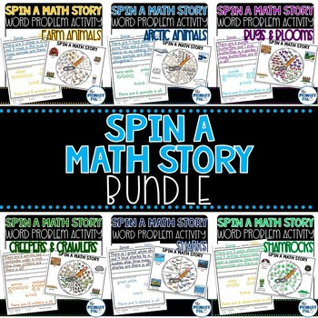 Spin a Math Story Bundle: Word Problem Activities