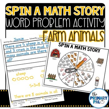 Spin a Math Story: Farm Word Problems
