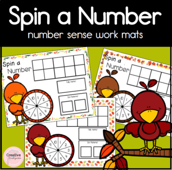 Spin a Number- Kindergarten Math Center: ten frames,tally marks and dot patterns