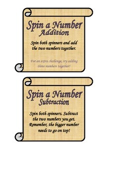 Spin a Number (Addition/Subtraction)