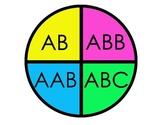 Spin a Pattern (AB, ABB, AAB, ABC)