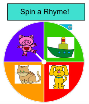 Spin a Rhyme~Interactive Whiteboard Activity