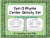 Spin a Rhyme - Rhyming Center Activities