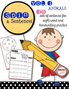 Spin a Sentence! Animals