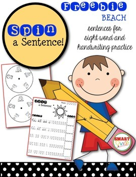 Spin a Sentence! Free Sample BEACH