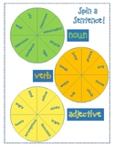 Spin a Sentence Parts of Speech practice