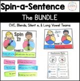 Phonics Spin a Sentence: BUNDLE