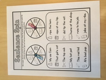 Phonics Sentence Spin: Short Vowel Edition