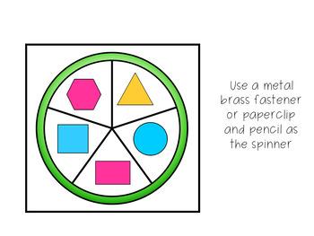 Spin a Shape Math Activity