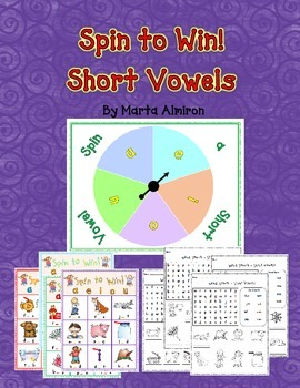 Spin a Short Vowel! - A CVC Words Game