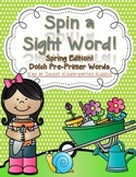 Spin a Sight Word! Spring Edition (Dolch Pre-Primer Sight Words)