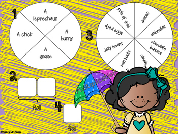 Spin a Silly Sentence Bundle- NO PREP Spring Word Problems for All Operations