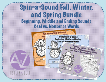 Spin-a-Sound Bundle Fall, Winter, and Spring