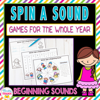 Spin a Sound Games for the Whole Year-Beginning Sounds