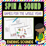 Phonics Games for the Whole Year-Ending Sounds (Spinner Games)