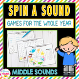 Phonics Games for the Whole Year-Middle Sounds (Spinner Games)