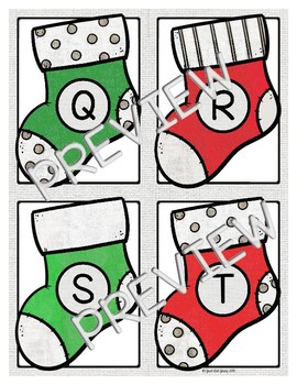 Spin-a-Stocking A Game for Letters and Beginning Sounds