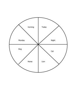 Spin a Story Wheels  Six Traits Idea
