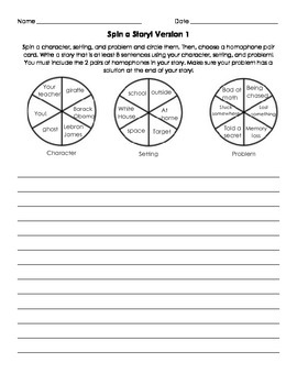 Spin a Story with Homophones