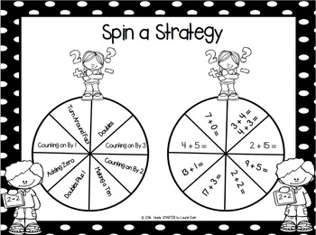 Spin a Strategy:  NO PREP Addition Strategy Spin Game