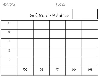 Spin a Syllable (in Spanish)