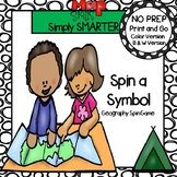 Spin a Symbol:  NO PREP Geography Spin Game