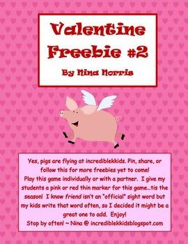 Valentine Freebie #2