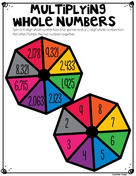 Whole Number Math Centers