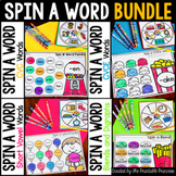 Spin a Word BUNDLE {CVC, CVCe, Short Vowels, Blends and Digraphs} Word Families