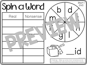 Spin a Word (CVC - Short Vowels)