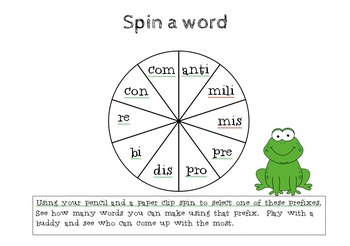 Spin a Word - Prefix Game
