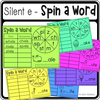 Spin a Word (Silent e)