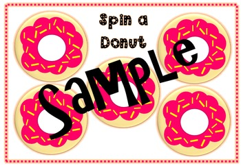 Spin a donut fraction game